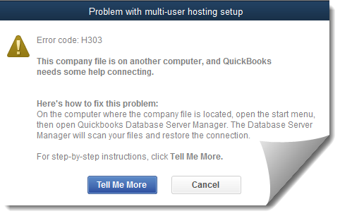 Quickbooks H303 error